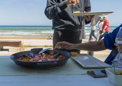Paella Marisco Terraza Vela Beach Torrevieja